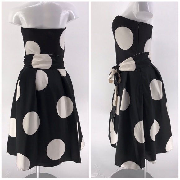 Melinda Eng Dresses & Skirts - MELINDA ENG DRESS Strapless Polka Dot Silk 10